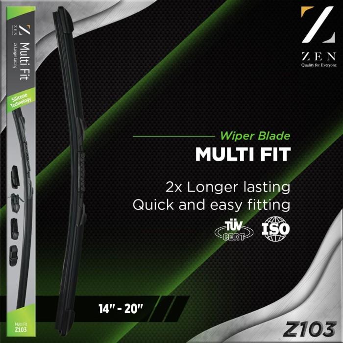harga 1pcs wiper silikon silicone z103 zen multi fit mobil eropa 14  - 28  - dua enam Tokopedia.com