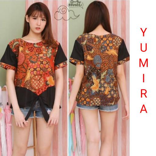 Promo Termurah M7h5 Baju Batik Wanita Saras Blouse Batik Terlaris B8d9 a0f58ca373