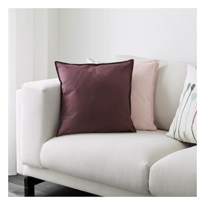 New Ikea Gurli Sarung Bantal Kursi Katun 50x50cm Merah Cushion Cover