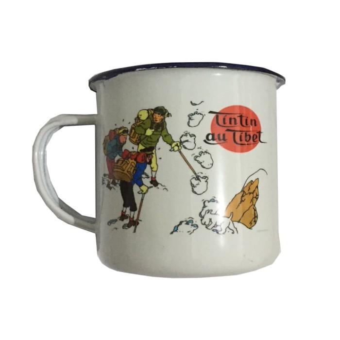 harga Enamel mug cangkir kopi - tintin tibet Tokopedia.com