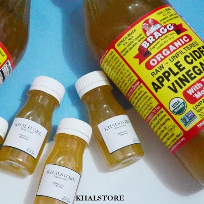 PURE Cuka Apel Bragg/Apple Cider Vinegar Pure 60ml 60 ml Original