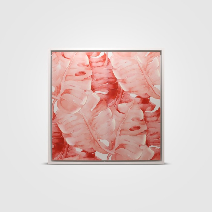 harga Wall deco banana leaves pink 75x75 cm Tokopedia.com