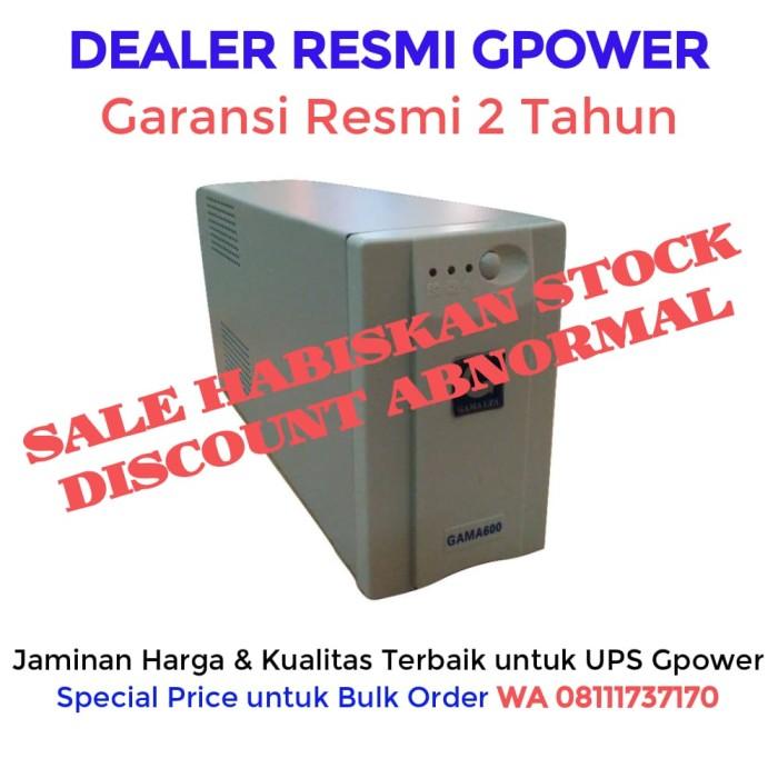 harga Ups gama pro2060 - 600va / 360 watt (garansi resmi 1 tahun) Tokopedia.com