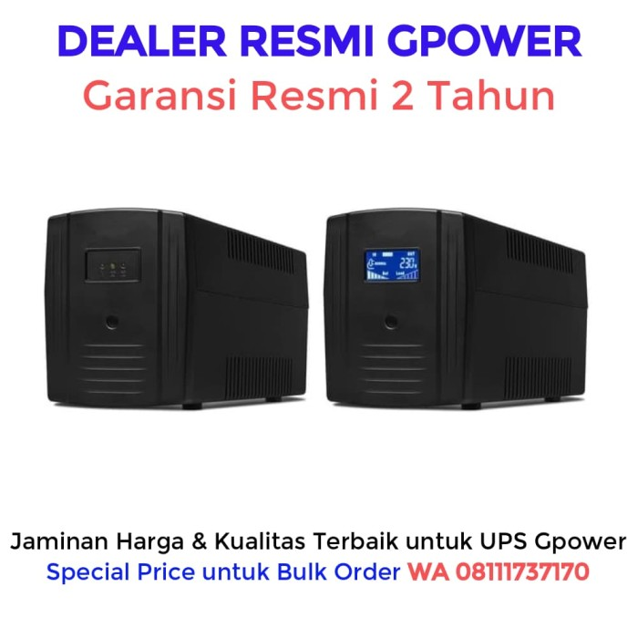 harga Ups gpower gp200 1200va / 720 watt + stabilizer (garansi resmi 2 thn) Tokopedia.com