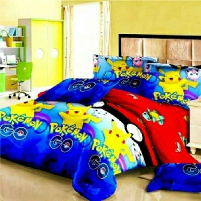 Bed Cover Set Sprei Fata Size King Motif Pokemon Go Murah