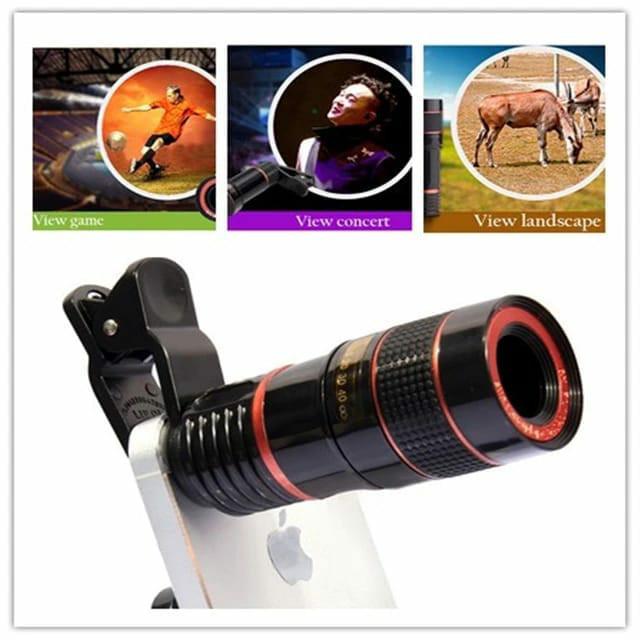 harga Telezoom lensa clip jepit 8x zoom optical mobile phone Tokopedia.com