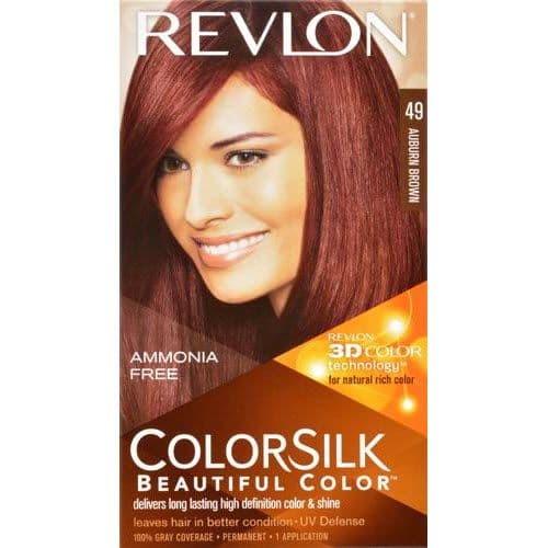 Cat Rambut Revlon ColorSilk 49 Auburn Brown