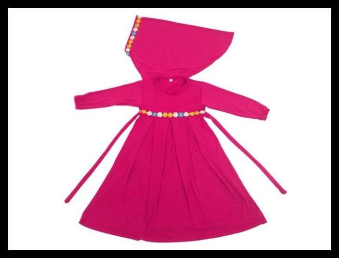 Jual Baju Muslim Gamis Anak Perempuan Warna Pink Lucu Simple - Sana ... d5b89b2199