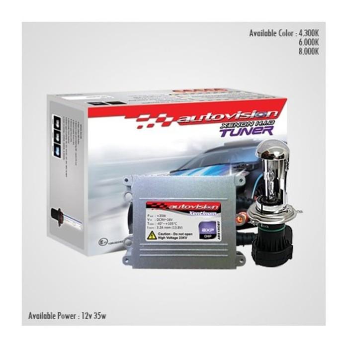 harga Lampu hid h4 autovision tuner 6000k (putih) garansi 1 tahun Tokopedia.com