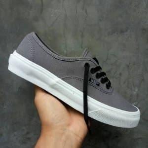 Jual Sepatu Vans Authentic Mono Grey Black Laces waffle ICC Paling ... f7e5916536