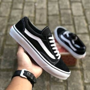 Sepatu Vans Old Skool Classic Black and White DT BNIB O Paling Laris