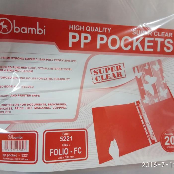 Jual Pp Pocket Bambi Folio 5221 Toko Abc Pasar Pagi Lama Tokopedia