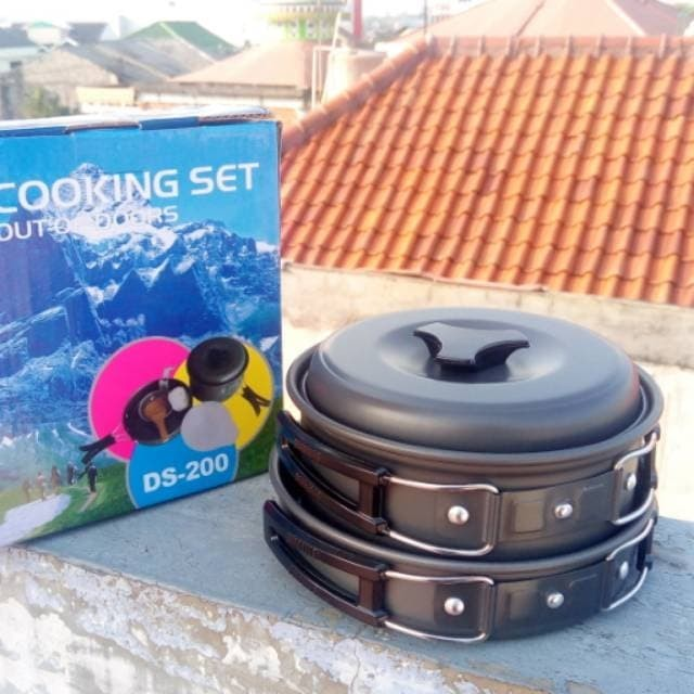 Dsc Cooking Set Ds 201 Camping Hiking Out Door Hitam Daftar Harga Source · Cooking set