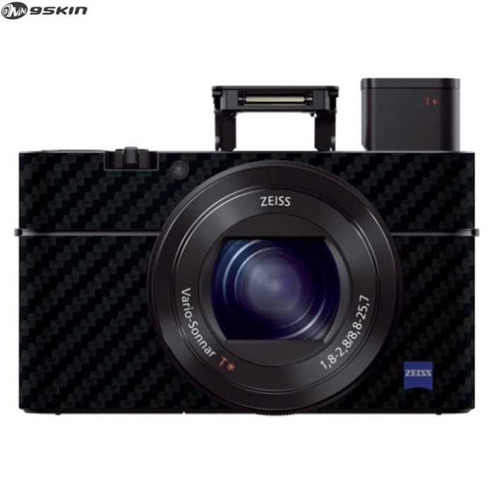 harga 9skin - protector for digital camera sony rx100 iii vinyl black carbon Tokopedia.com