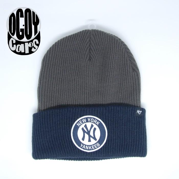 98deb807745 Jual Authentic New York Yankees  47 brand Ice Block Cuff Knit ...