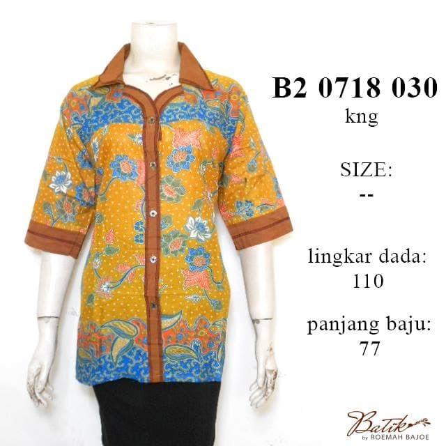 harga Blus jumbo 3/4 bunga cecek b20718030 / blus batik lengan pendek jumbo Tokopedia.com