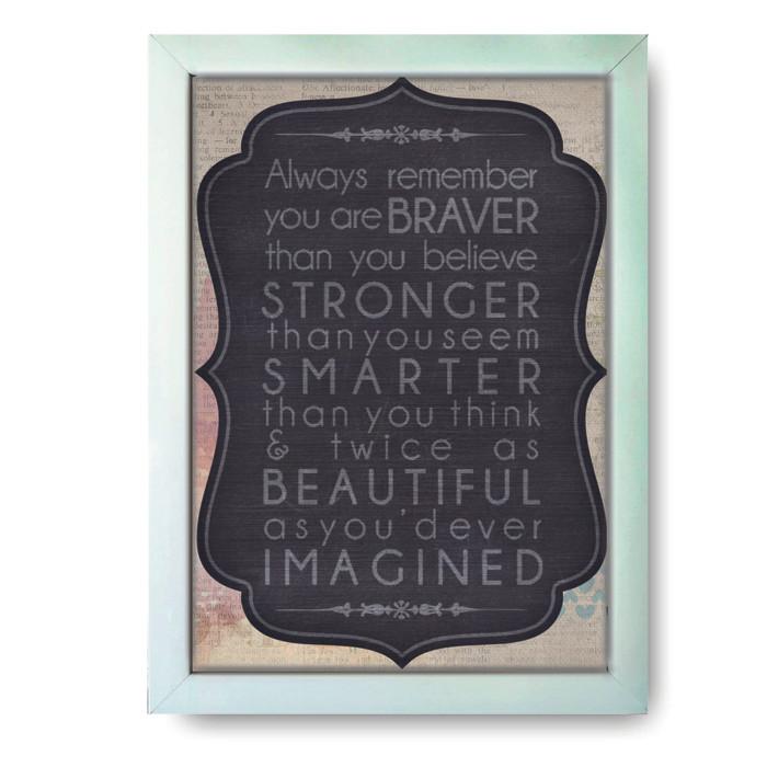 Hiasan Dinding Motivasi Frame Putih Uk 8R Kata-Kata Motivasi