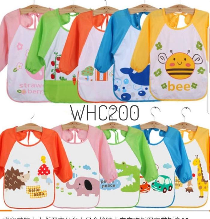 Foto Produk Slabber waterproof baju tangan BIB animal celemek anak dari Honey Bee Babyshop