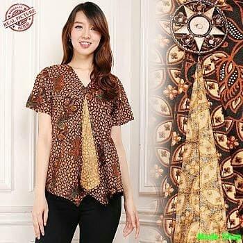 Jual Rekha Blouse Blouse Batik Lengan Pendek Baju Batik Wanita Batik Modern Dki Jakarta Mode Shop Tokopedia