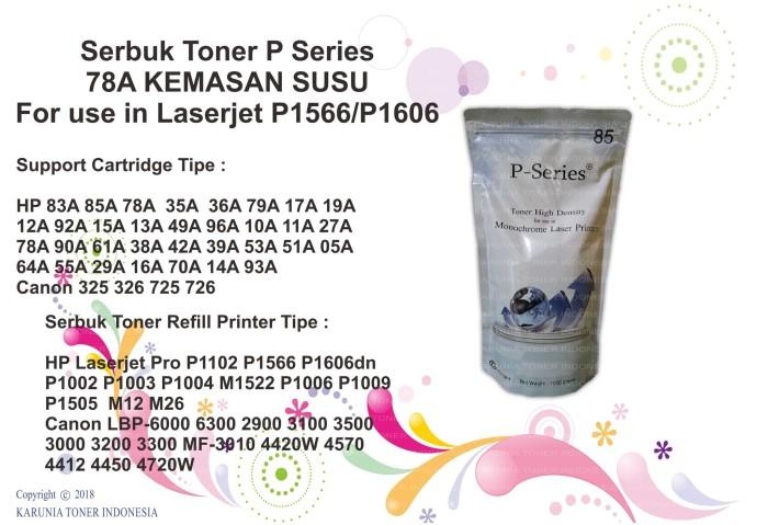 harga Serbuk toner p series 78a kemasan susu for use in laserjet p1566/p1606 Tokopedia.com
