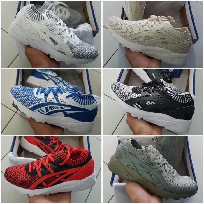 vente chaude en ligne 4cce0 c2821 Promo Sepatu Asics Gel Kayano Trainer Knit All Color