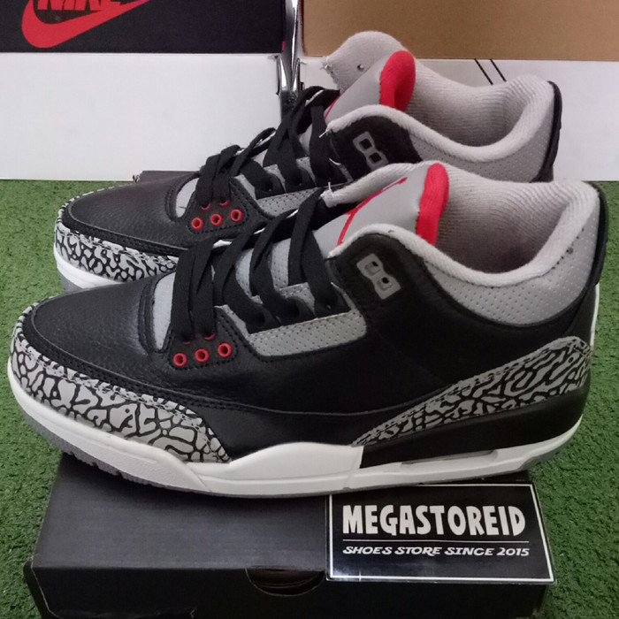 69c2bca270f Jual Sepatu Nike Air Jordan 3 OG Black Cement MIRROR BNIB Perfect ...