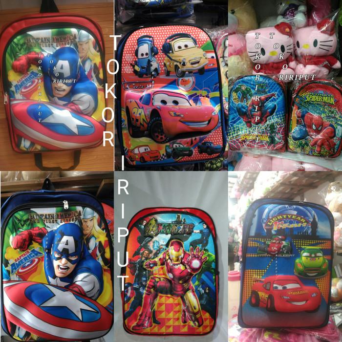harga Tas ransel backpack sekolah anak tk sd timbuk 3d superhero spiderman Tokopedia.com