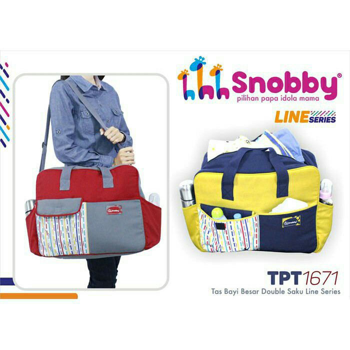 harga Tas bayi besar jumbo snobby double saku line series tpt 1671 original Tokopedia.com