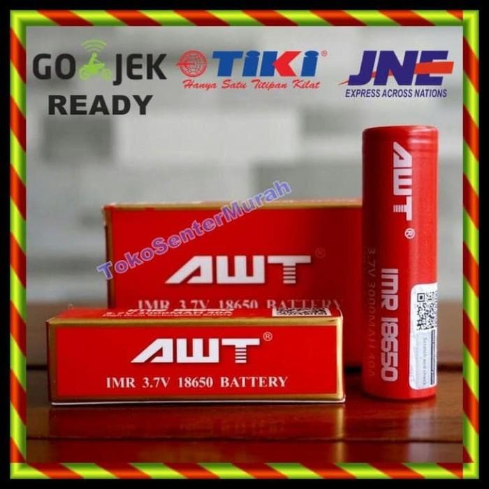 Awt Battery 18650 3000Mah 40A / Baterai 18650 Vapor Rokok Elektrik