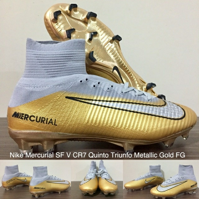 ... coupon code for harga sepatu bola nike mercurial sf v cr7 quinto  triunfo metallic gold fg da51be8c10cc