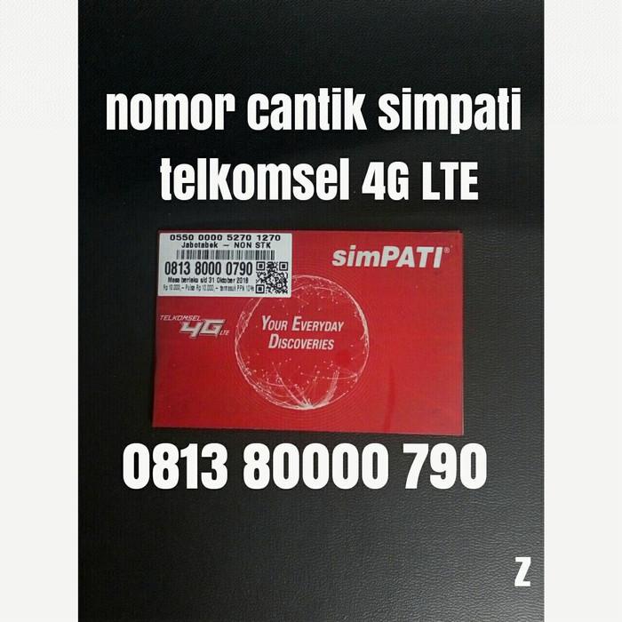 nomor cantik simpati telkomsel 4G LTE nomer kartu perdana pilihan 0790