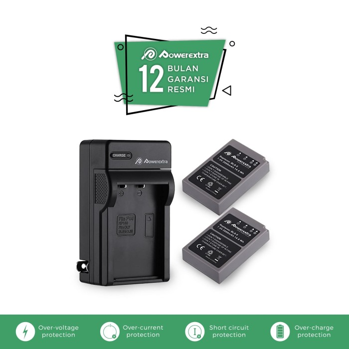 harga Battery 2 pack and charger olympus bls-5 bls-50 for om-d e-me-pl2 etc Tokopedia.com