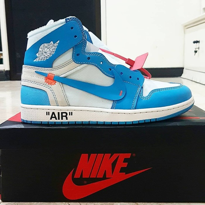 the latest 3111c bf6fa Jual Air Jordan 1 x Off-White (offwhite) Nike UNC University North Carolina  - Kota Surabaya - Sinar Megah Jaya | Tokopedia
