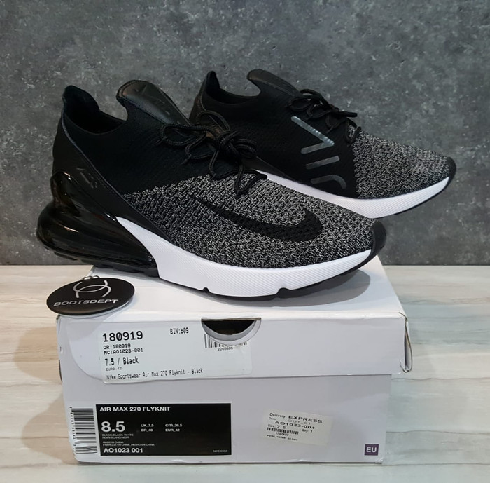 Jual Nike Air Max 270 Flyknit Oreo Black Kab. Tangerang Futsal BootsBoots Dept   Tokopedia