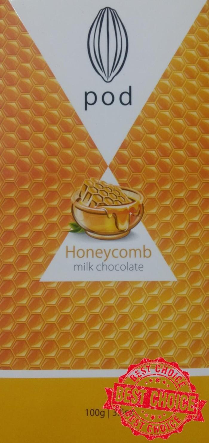 POD   milk chocolate   honeycomb   100 gram   cemilan