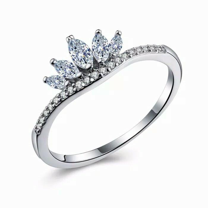 Jual Cincin Emas Putih Mahkota Berlian Putih Kab Jember Kinastore Tokopedia