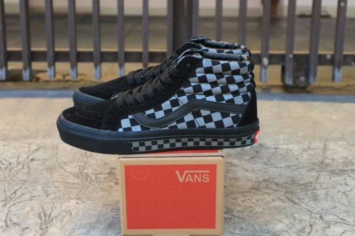 c120635087 Jual Sepatu Vans Sk8 hi Reissue Cekerboard Black Import Premium BNIB ...