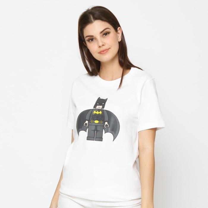 Kuki style lego collection t-shirt batman white - putih l