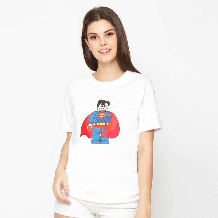 Kuki style lego collection t-shirt superman - white - putih l