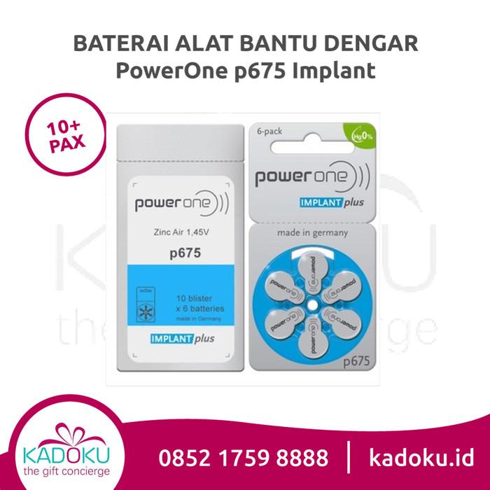 Baterai Implant Powerone 675 (1 Box isi 10 Rol) Hearing Aid Battery