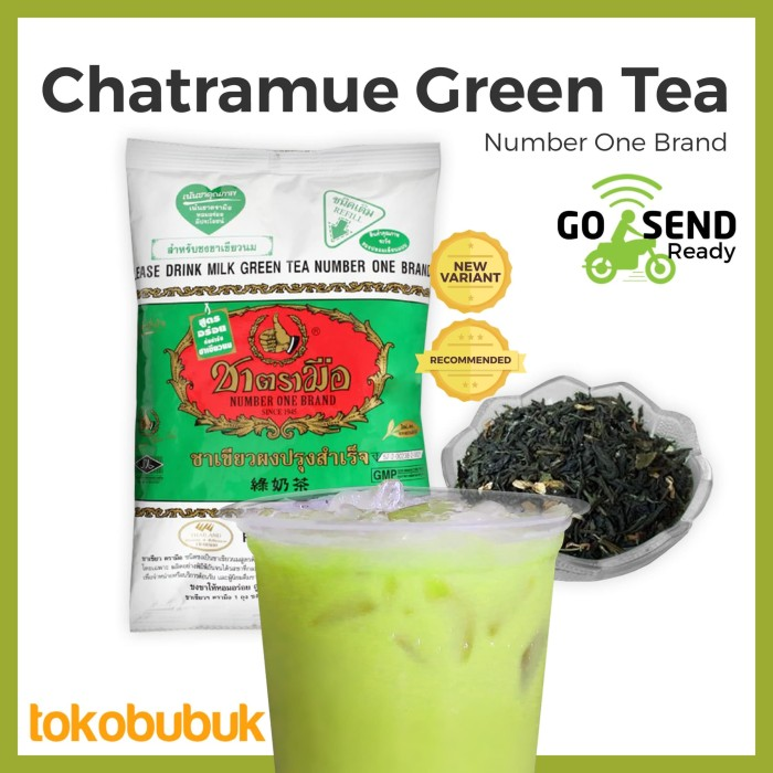 Chatramue GreenTea Original Number One Brand 200g (teh Thailand asli)