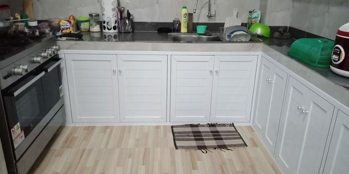 Jual Kitchen Set Full Aluminium Cokelat Kota Depok Daya