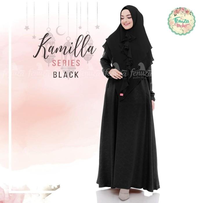 TOP SALE Gamis Fenuza Kamila Dewasa Black baju gamis wanita busana mu