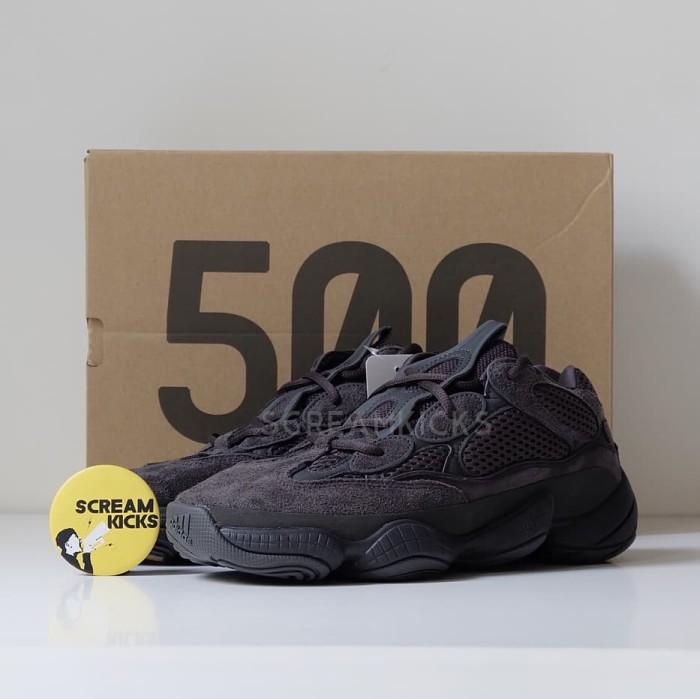 6bacd866b Jual Adidas Yeezy 500  Utility Black  - Hitam