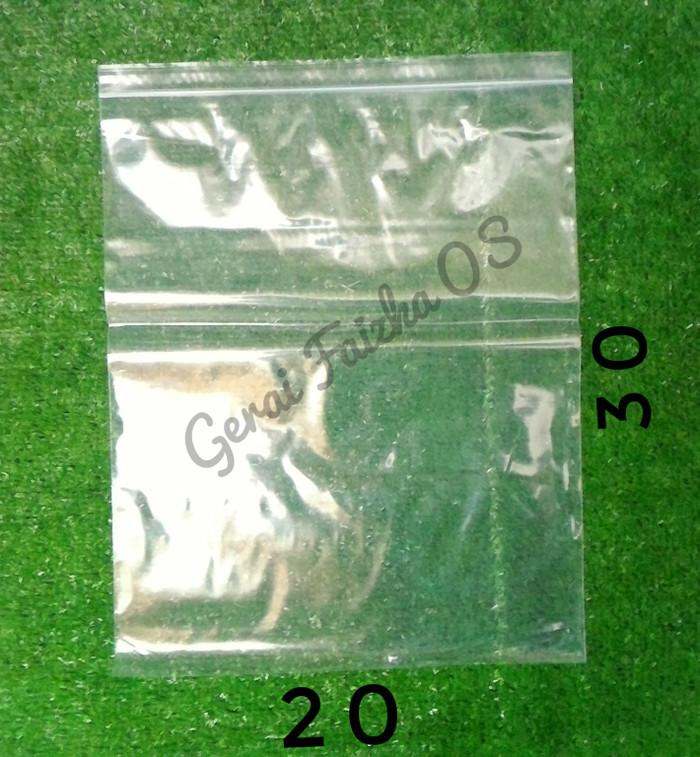 harga Kantong plastik pe klip bening/zipper/ziplock 20x30 Tokopedia.com