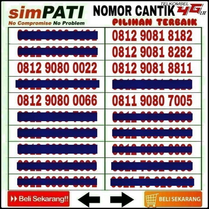 OBRAL Kartu Perdana Nomor Cantik Telkomsel Simpati AS Loop No IM3 XL