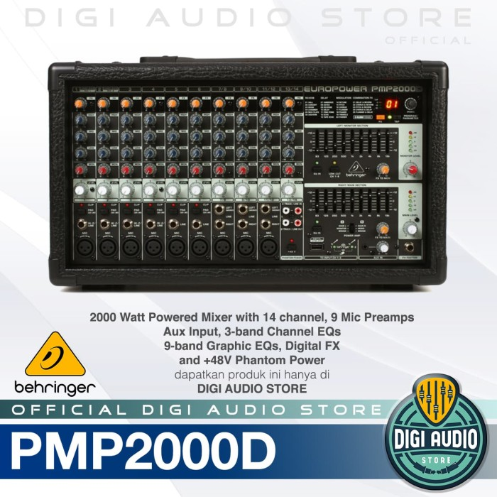 harga Behringer pmp2000d powered / power audio mixer 2000 watt with effect Tokopedia.com