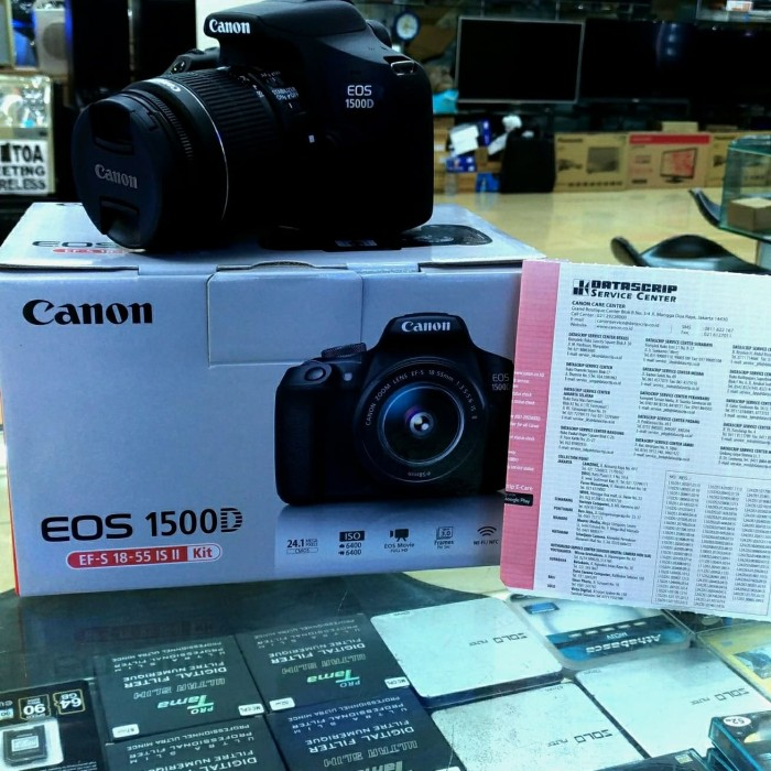harga Canon eos 1500d kit 18-5mm is ll wifi resmi datascrip 2018 Tokopedia.com