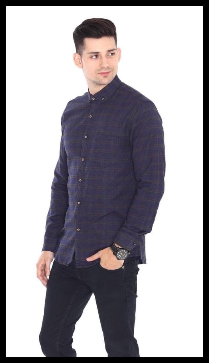 Kemeja Panjang Flanel Flannel Planel Kotak Hitam Daftar Harga Pria Model Slimfit Modern Motif Dark Vegas Xl Merah Maroon Cowok