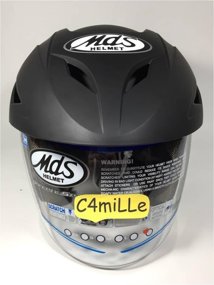 Helm MDS Protector Solid Hitam Doff / black dop